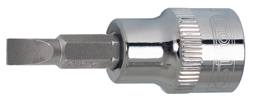 "KS TOOLS nasadka 1/4"" z grotem płaskim 4mm CHROME 918.1487"